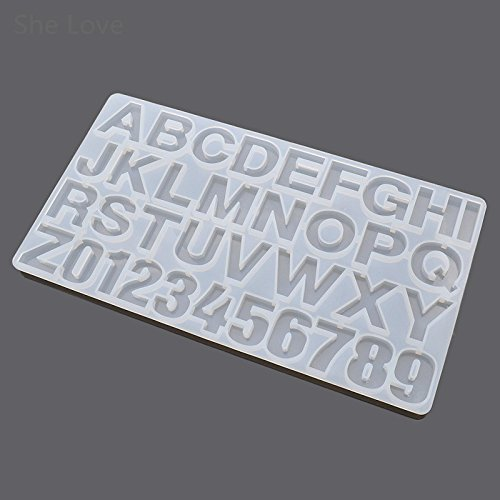 Yalulu Letters Numbers DIY Silicone Round Mold Jewelry Resin Casting Jewelry Mould for DIY Craft Making Handcraft Accessory Decoration
