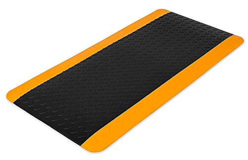 Internet's Best Anti Fatigue Comfort Mat - Cushioned Non-Slip Workshop Garage Office Standing Desk Mat - Ergonomic Floor Mat for Market Booths - Waterproof - 38.75 x 19.75 inches - Black