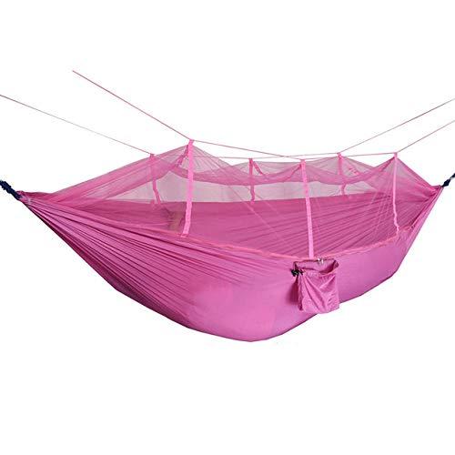 DIRUIDA Hammock Outdoor Portable,260 * 140Cm Parachute Fabric Hammock 2 Person Portable With Mosquito Net Hammock Camping Hamak Travel Sleeping Bed Garden Swings Outdoor