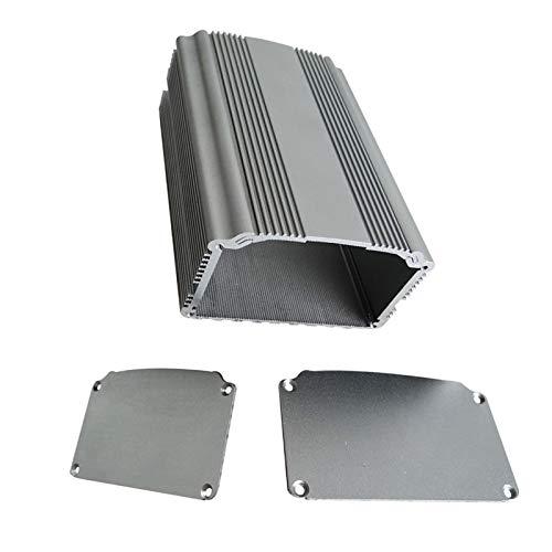 SENRISE Aluminium-Projektbox, (XD-81) Aluminium-Instrument Elektro-Projekt-Box Elektronisches Gehäuse DIY für Leiterplatte, 43 x 78 x 100 mm, silber
