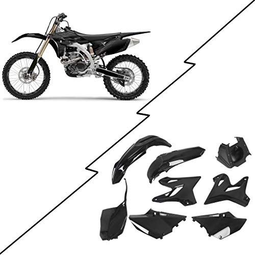 Restyle Plastic Complete Kit Compatible with 2002-2014 Yamaha YZ125 YZ250 Black