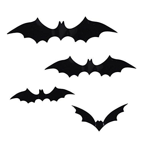 EROSPA® Fledermaus Bat Halloween 3D Wand-Deko Fenster Tür 12 teiliges Set Party