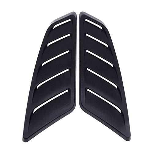 WLLOVE WULE 1 Pareja Universal ABS PLÁSTICO PLÁSTICO Air Air Air Scoop Bonnet Frontal Hood Panel de ventilación Accesorios Accesorios Ajuste para Ford Mustang 2015-2017