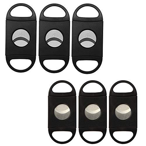 PIPITA 葉巻用品 シガーツール ABSプラスチック ダブルブレード ギロチン ステンレス鋼 シガーカッター 葉巻 スタッドカッター 22ミリ (6個/セット)