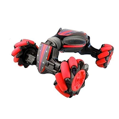 Toy Gesture Sensing Fernbedienung Twisting Auto-Licht-Musik-Deformations-Auto Drift Traverse Dance Off-Road-Stunt Car,Monsteramy (Color : Red)