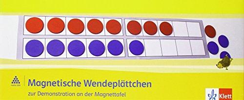 Wendekarten für Lehrer magnetisch 1-4: 100 magnetische Wendeplättchen (Durchmesser 4 cm) incl. Zwanzigerfeld und -reihe Klasse 1-4 (Programm Mathe 2000+)