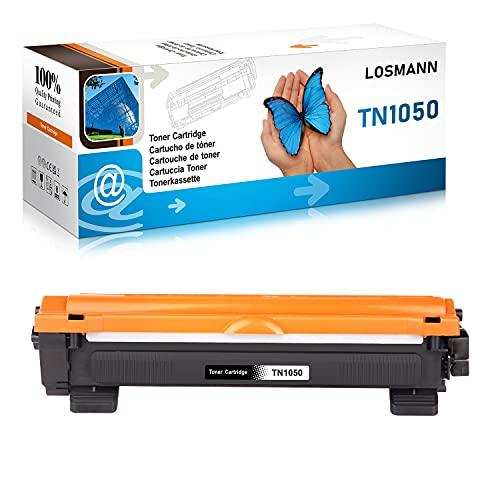 LOSMANN 1x Schwarz Toner kompatibel für Brother TN1050 TN-1050 für Brother DCP-1510 1510E 1512 1512A 1512E 1601 1610W 1612 1612W 1616NW HL-1110 1110E 1110R HL-1110 Series HL-1112 1112A HL-1112 Series