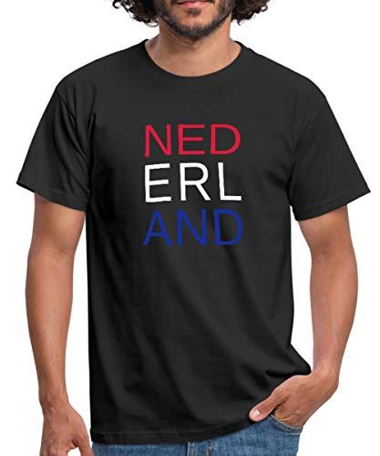 Spreadshirt Rood Wit Blauw Nederland Vlag Mannen T-shirt