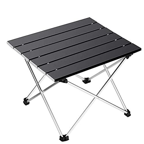 Mesa de camping portátil, ligera mesa plegable con mesa de aluminio y bolsa de transporte, fácil de llevar, ideal para exteriores, picnic, cocina, playa, senderismo, pesca