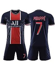 Voetbalshirt voor heren # 7 Mbappé voetbalshirt sets, zachte, ademende klassieke trainingskleding, voetbalshirt voor volwassenen voor kinderen