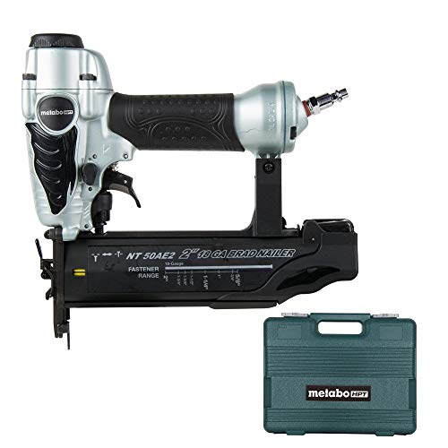 Metabo HPT Brad Nailer Kit, Pneumatic, 18 Gauge, 5/8-Inch up to 2-Inch Brad Nails, Tool-less Depth...