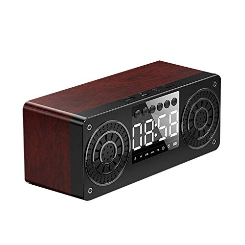 DGHJK Despertadores de Carga, Altavoces Bluetooth con Radio FM, Control de Voz para la Oficina de cabecera del Dormitorio en casa