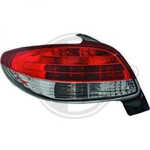 in.pro. 4225995 HD achterlichten Peugeot 206, 98-05 niet CC, helder-rood -zwart