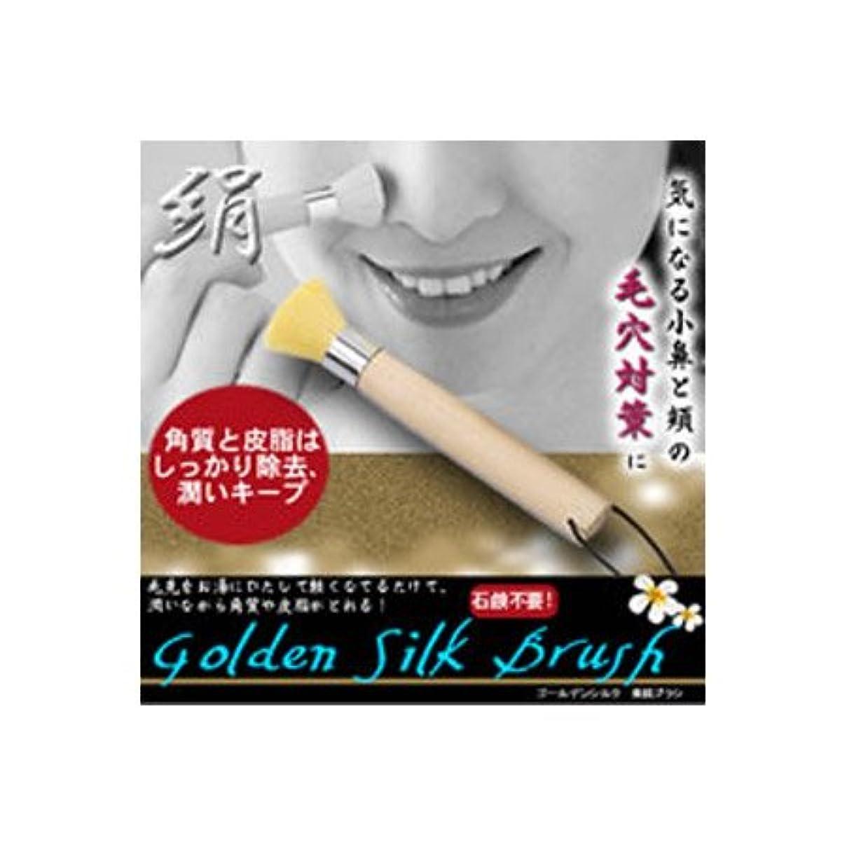 トレーニング決して受粉するゴールデンシルク 美肌ブラシ 小鼻用