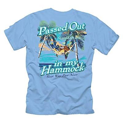 Margaritaville Men's Passed Out Hammock Graphic Short Sleeve T-Shirt, Carolina Blue, Medium