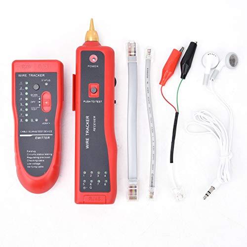 Probador de Cables, Herramienta de búsqueda de Cables Profesional Buscador de Cables Localizador de Cables multifunción, para Cables de Red Cables para Vallas para Perros