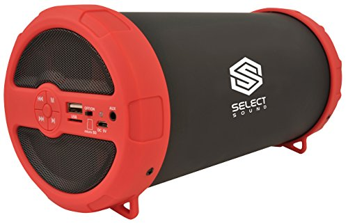 Select Sound Bocina Portátil Recargable Bluetooth Subwoofer Integrado (Rojo)