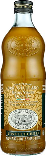 San Giuliano Freshly Stone Crushed Unfiltered Extra Virgin Olive Oil, 33.8-Ounce
