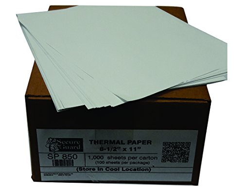 Thermal Cut Sheet Paper (8.5-x-11-inch) for use in mobile printers and pocket jet printers SP850