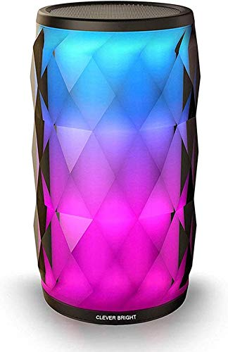 Altavoz Bluetooth con Luz, Altavoz Inalámbrico Portátil, Diseño de Diamantes, Control tactil de...