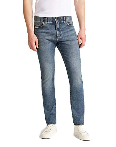 Lee Extreme Motion Skinny Jeans, Blue Prodigy, 33W / 34L para Hombre