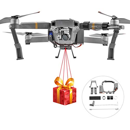 PeleusTech Release and Drop Device for DJI Mavic PRO for Drone Fishing, Bait Release, Payload Delivery, Search & Rescue, Fun Activities, Ring Thrower