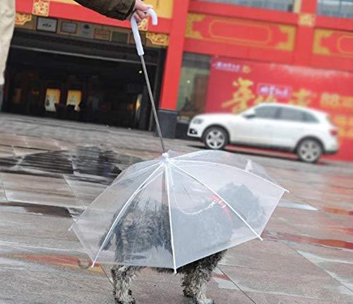 Hpybest Huisdier paraplu spot groothandel hond uit transparante paraplu met hond ketting puppy huisdier regenjas