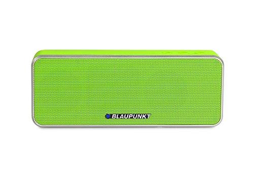 BLAUPUNKT BT 6 GR Bluetooth Lautsprecher mit Mikrofon, Freisprecheinrichtung, eingebauter Akku für MP3 grün