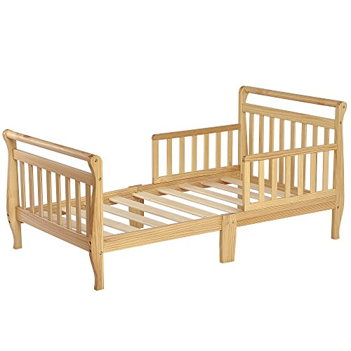 Dream On Me Classic Sleigh Toddler Bed - Natural by Dream On Me