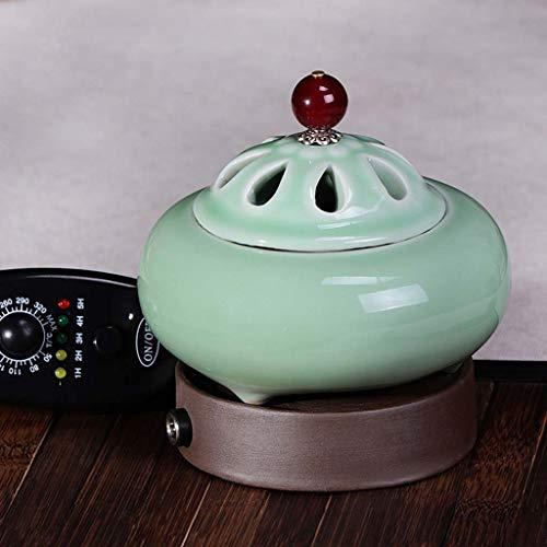 Diffuseur pour huiles essentielles, brûleur d'encens électrique réglable pour la température de la maison, brûleur d'encens électronique en céramique, four d'aromathérapie pour huiles essentielles