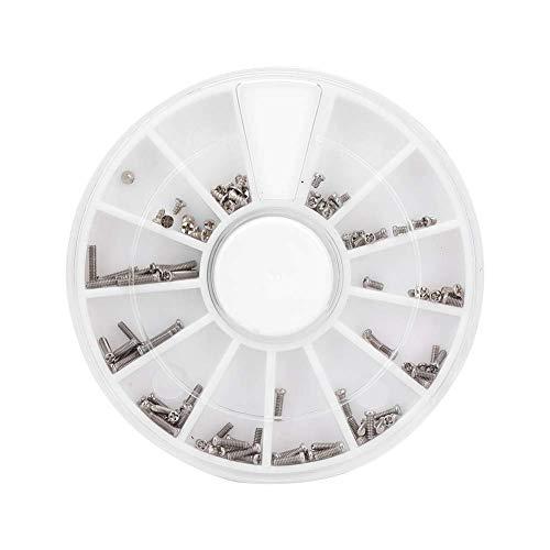 Juicemoo Reloj multifunción Tornillos Surtidos, Tornillos de reparación de Relojes Tornillos de Reloj de Reloj, Reparación de Gafas de Reloj para relojeros Reparación de Wacth