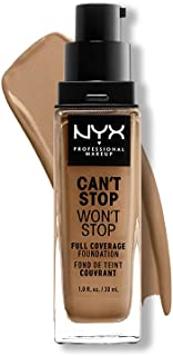 NYX Professional Makeup Can't Stop Won't Stop Full Coverage Foundation, langdurig waterbestendig, veganistische formule, m...