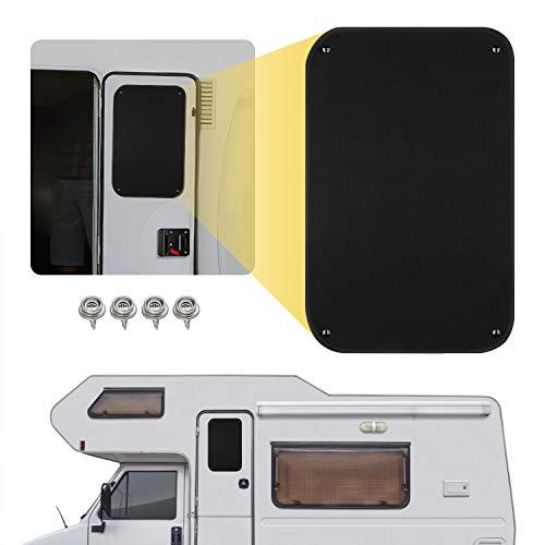 Kohree RV Door Window Shade, 24 x 16 Inch Camper Sunshade Privacy Screen Window Cover, Travel Trailer Sun Shade, Acrylic Blackout Fabric, UV Rays Protection, Waterproof, Black