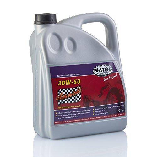 MATHÉ Classic SAE 20W-50 Oldtimer-Öl 5 Liter