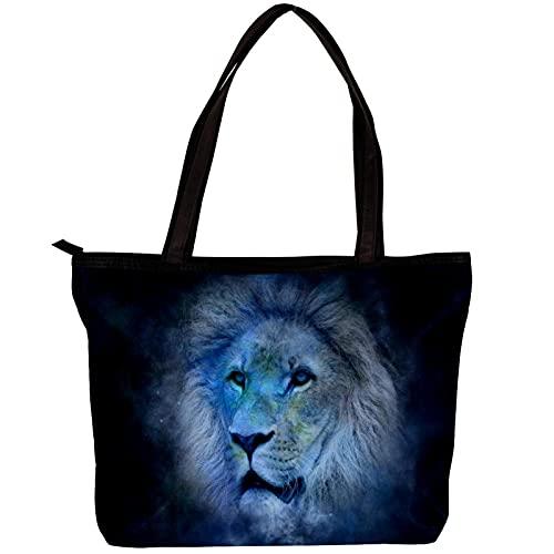 LORVIES - Bolso bandolera para mujer con horoscopio Galaxy Tigre