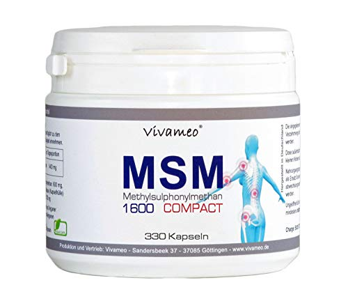 Vivameo ® MSM 330 Kapseln Hochdosiert 1600 mg Tagesdosis Methylsulfonylmethan