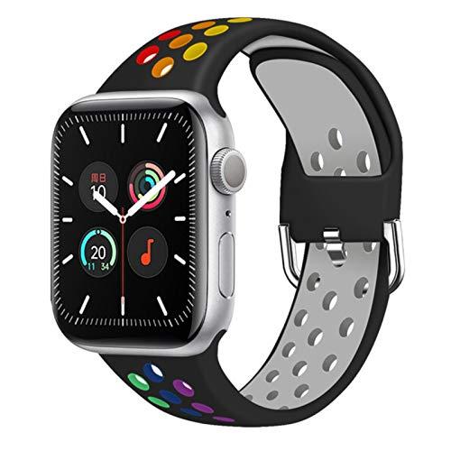 Correa para Apple watch band 40mm 44mm / 42mm / 38mm Accesorios Correa de silicona Pulsera deportiva para iWatch series 5 4 3 2 40 38 42 44 mm