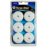 Martin Kilpatrick 3 Star Table Tennis Balls - 6 Pack - 40mm Ping Pong Balls - White - Poly Ping Pong Balls -...