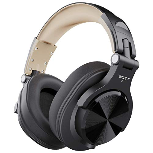 Fire-Boltt Blast 1400 Over -Ear Bluetooth Wireless Headphones with 25H Playtime, Thumping Bass, Lightweight Foldable Compact Design with Google/Siri Voice Assistance & in Built mic & 40mm Drivers
