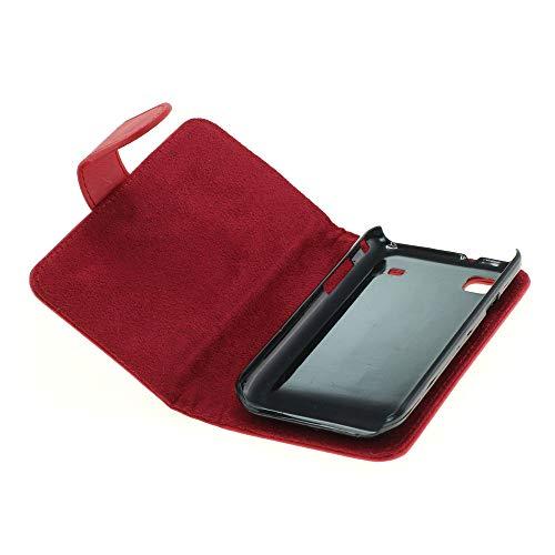 Mobilfunk Krause - Book Hülle Etui Handytasche Tasche Hülle für Samsung GT-I9000 / I9000 (Rot)