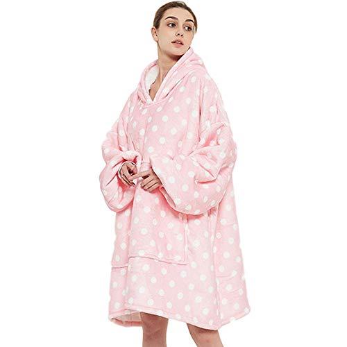 NXYJDe Gran tamaño con Capucha usable Mantas Sudadera suéter Caliente Casual Pijamas Ropa Caliente for el hogar Mantas