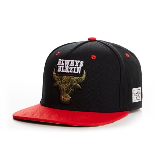 Cayler And Sons - Casquette Snapback Homme Blazin' Cap - Black/Red