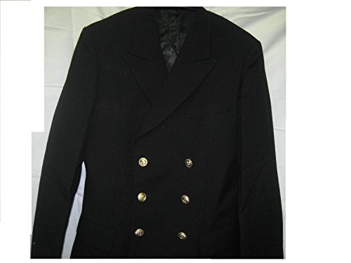 VEB Lagermaulwurf Marine Jacke Uniform Fasching Karneval Kapitän Ankerknöpfe Mottoparty Kostüm Colani