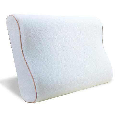 BedStory Orthopedic Pillow for Sleeping, Contoured Memory Foam Pillow for Back and Side Sleepers, Cooling Gel Neck Pillow with Hypoallergenic...