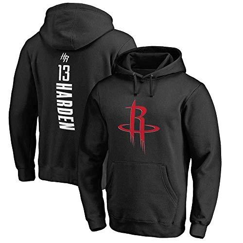 LLSDLS Sudadera con Capucha de la NBA for Hombre Sudadera de Baloncesto Houston Rockets James Harden Camiseta Deportiva de edición Suelta Camiseta (Color : Black, Size : S)