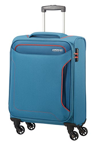 American Tourister Holiday Heat - Spinner Equipaje de Mano, 55 cm, 38 l, Azul (Denim Blue)