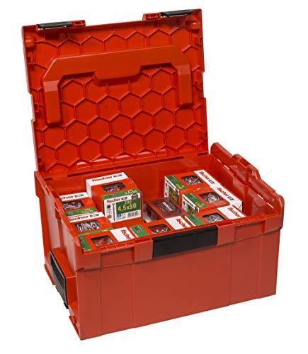 fischer Spanplattenschrauben Power-Fast in der praktischen stapelbaren L-BOXX FPF 3400