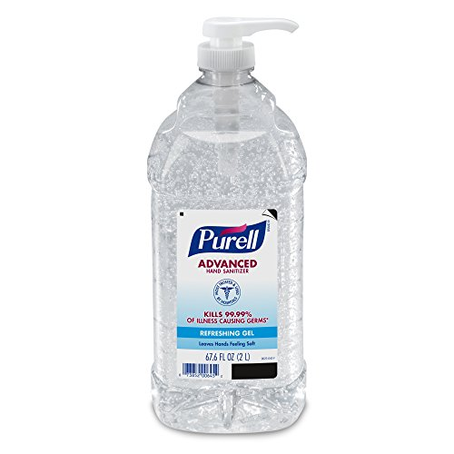 PURELL Advanced Hand Sanitizer Refreshing Gel, Clean Scent, 2-Liter Pump Bottle (Pack of 1) – 9625-04