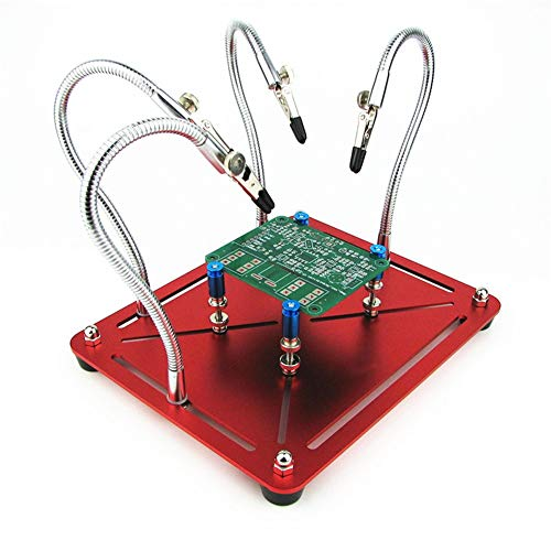 2 in 1 Helping Hands, Movable PCB Leiterplattenhalter 4-Metall flexible Arm Krokodilklemme Löthelfer