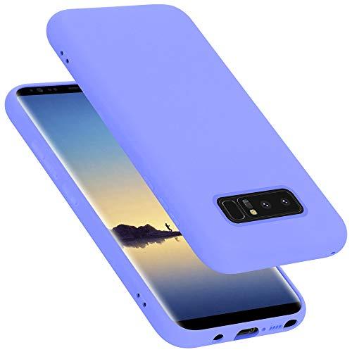 Cadorabo Custodia per Samsung Galaxy Note 8 in Liquid Lila Chiaro - Morbida Cover Protettiva Sottile di Silicone TPU con Bordo Protezione - Ultra Slim Case Antiurto Gel Back Bumper Guscio